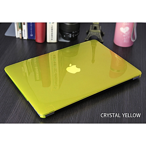 For Apple Macbook Air Pro Retina 11 12 13 15 Inch Laptop Cover Crystal Matte Full Protector Case For Mac Book Touchbar Bag Shell( Pro 13 Retina A1502)(yellow)