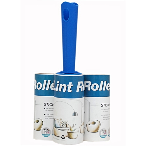 Lint Roller With 3 Refill Pack-Hair/Fur/Dust/Dirt Remover - Handle Colour May Vary
