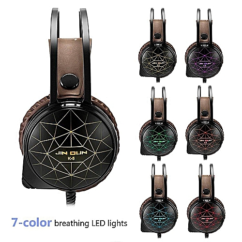 K-5 Gaming Headset 3.5mm Wired Bass Stereo Noise Isolation