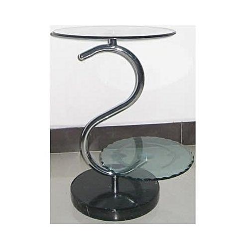 Glass Telephone Corner Table
