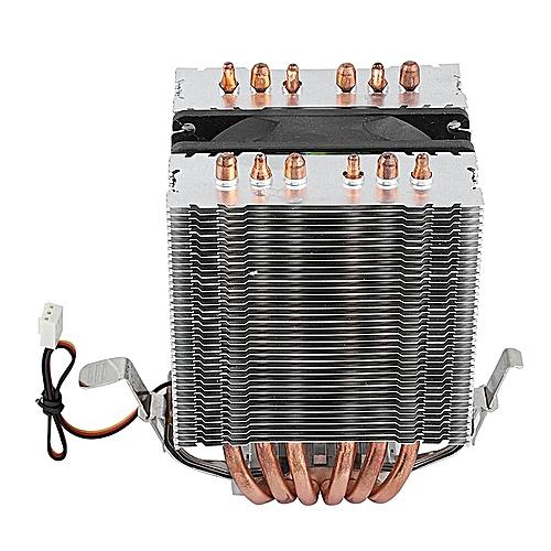 CPU Cooler Computer CPU Fans Cooler Heat Sink 6 Heatpipe For Intel Lag1156/1155/1150/775 Green