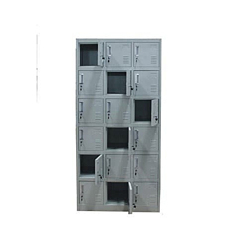 Metal Box Storage Lockers - 15 Doors