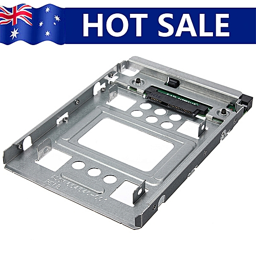 """NEW 2.5"""" SSD To 3.5"""" SATA Hard Disk Drive Adapter Caddy Tray Cage Hot Swap Plug"""
