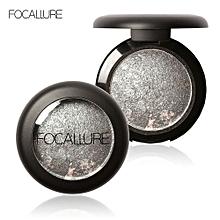 FOCALLURE 10 Colors Baked Eyeshadow Eye Shadow Palette In Shimmer Metallic Eyes Makeup Cosmetics Tool