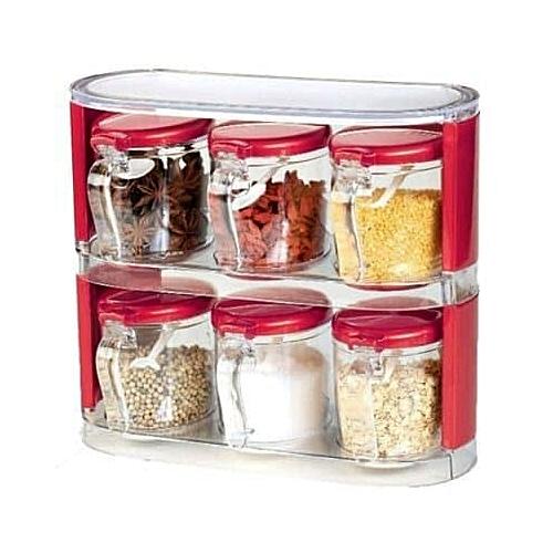 6-Piece Spice Jar With Rack