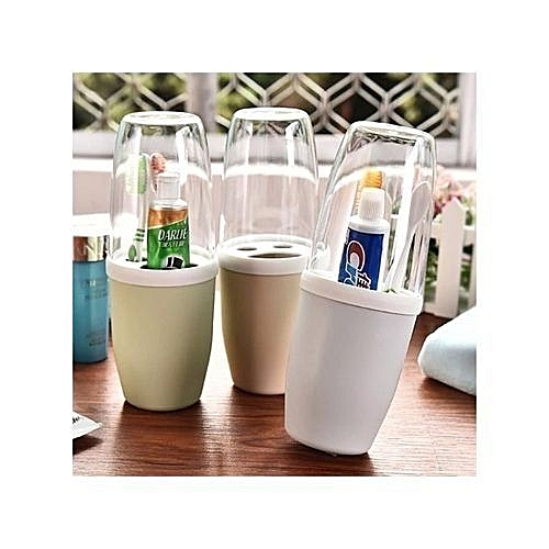 Toothbrush Holder With Cover - 3pcs