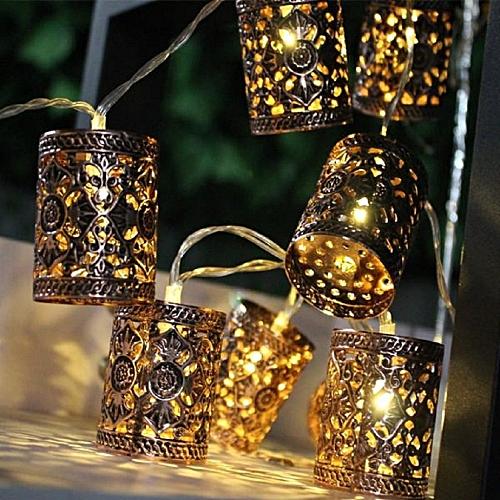 Battery Operated 1.1M LEDWarm White Retro Round LanternString Fairy Lights For Christmas Holiday-