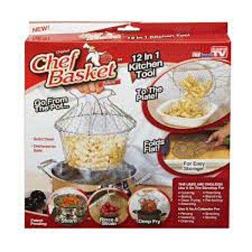 Foldable Multi-Purpose Steam Chef Basket