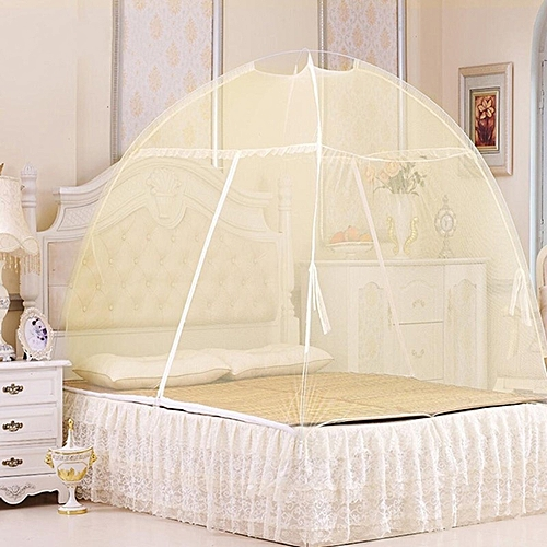 Mosquito Net Tent No Installation Foldable Bed Net For Bedding Room 5X6 Bed Size