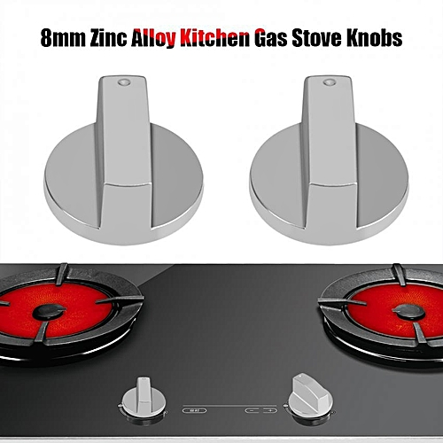 Universal Silver Metal Gas Cooker Oven Stove Knobs Control Rotary Switch Home Kitchen