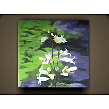Wall Art Flowery Painting Unled A0018