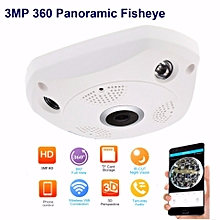 ADS 3MP (very High Quality) 2048x1536 HD VR 360 Wifi 3D Panorama Camera Wireless Network IP Camera P2P CCTV Hidden 2 Way Voice Home Office Security Remote Control Surveillance Monitor Indoor Cam Webcam Night Vision Video ONVIF (White) TXMALL, used for sale  Nigeria