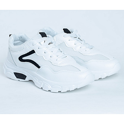 Ladies Fashionable Sneakers Shoes With Black Details