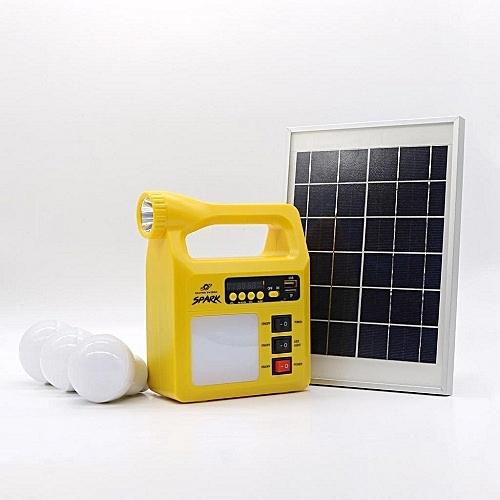 8000Mah Solar Power Kit With Multimedia Audio System - Spark