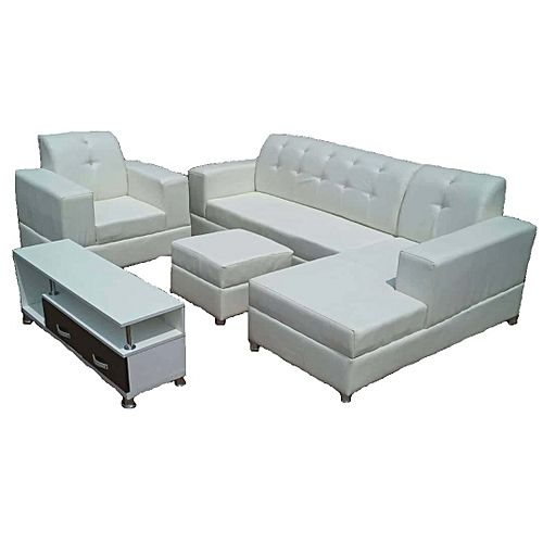 L Shape Sofa Chairs, A Single, Ottoman With A Free TV Stand