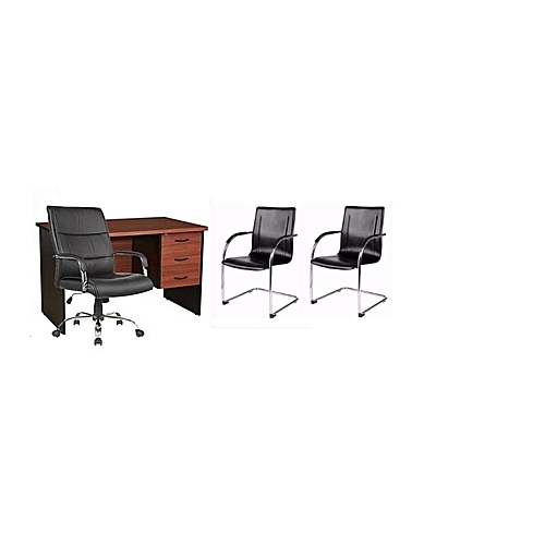 Caro -J Galaxy Office Table And Chairs Set (delivery Within Lagos, Agbara And Sango Ota Only)