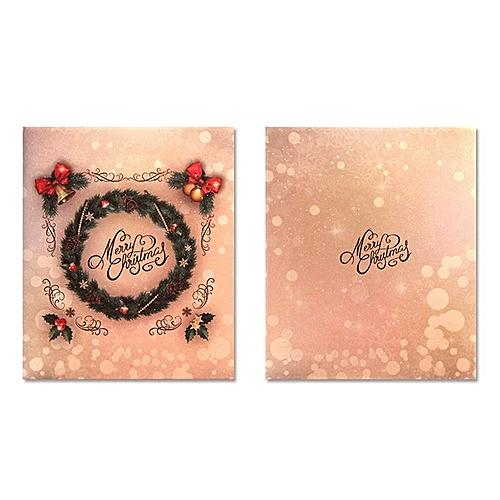 Christnas Card 3D Pop Up Congratulations Greeting Carving Cutout Postcard
