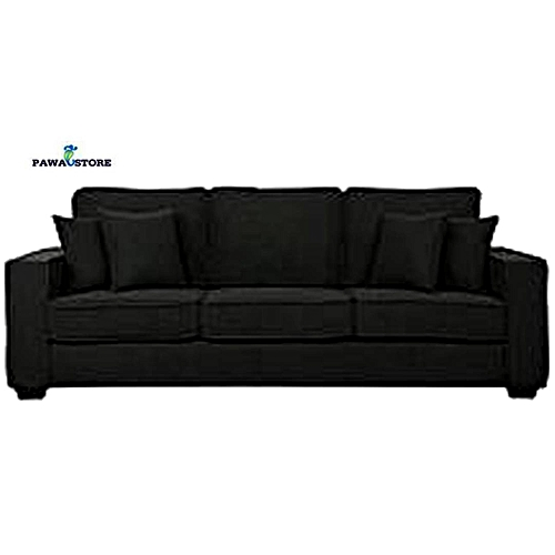 BLACK 3 Seater SLAofa 'ORDER NOW AND GET A FREE OTTOMAN' (Delivery To Lagos Only)
