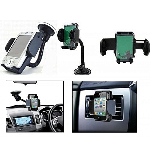 Premium Car Phone Holder With 360 Degree Rotation.HOW TO USE WATCH VIDEO BELOW!