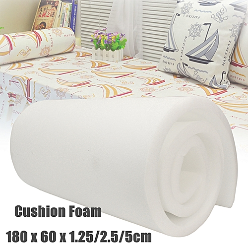 "(photo)High Density Upholstery Foam Seat Cushion Replacement - 24"" X 72"" # 2.5cm"