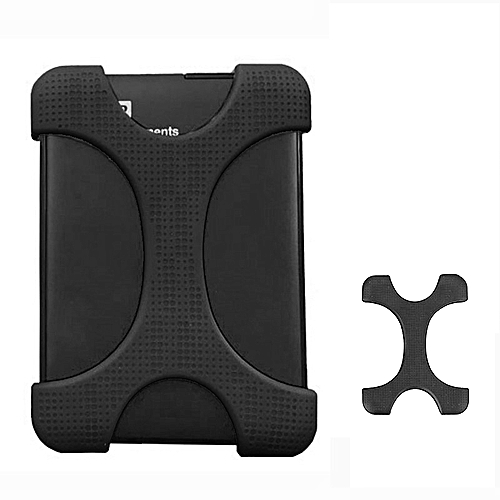 X Type 2.5 Inch Hard Drive Disk Silicone Case For WD / SEAGATE / Toshiba, Without Hole (Black)