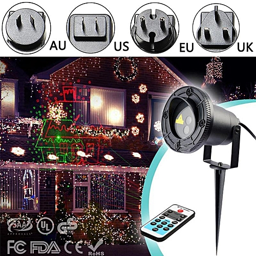 8 Patterns R&G Projector Moving Laser Lamp Outdoor Garden Christmas Stage Light