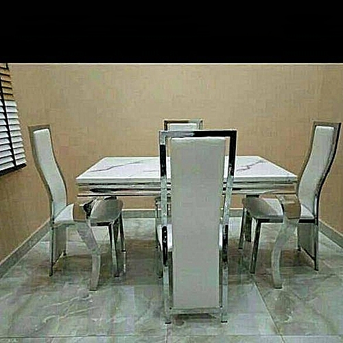 Marble Dining Table + 4 Sitting Chairs (Delivery Within Lagos Only)
