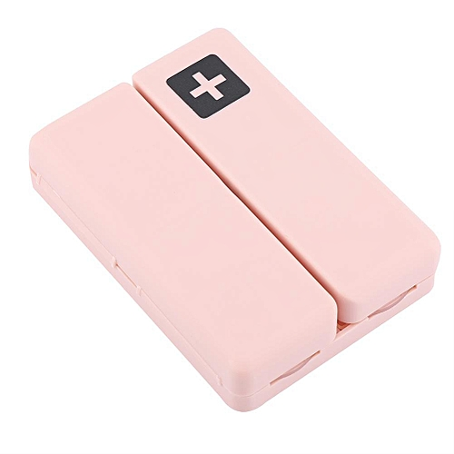 Portable Medicine Case Foldable Magnetic Pill Box Organizer With 7 Compartments