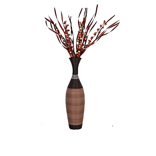 Home Decorative Woven Vase And Flower