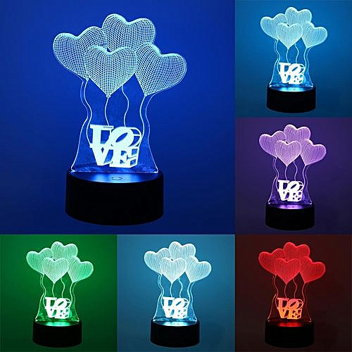 Acrylic Color Changeable 3D LED Touch Control Lamp Decorative Holiday Gifts