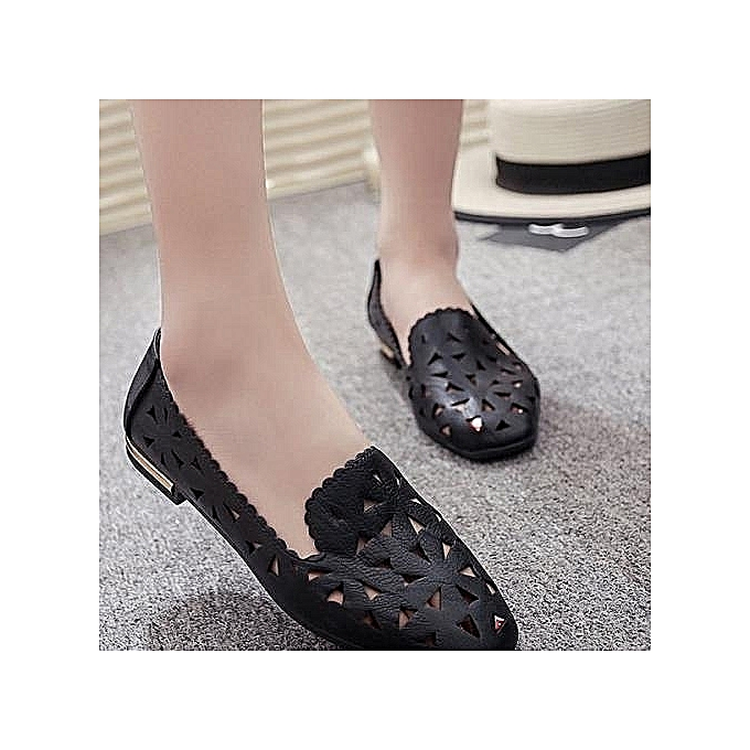 97f2501617719 Women Oxfords Beautiful Hollow Flats Shoes Women Comfortable Flat Air Mesh  Summer Muller Creepers Leather Shoes