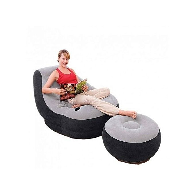Intex Inflatable Air Chair With Foot Rest And Pump