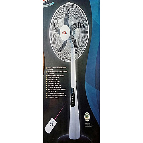 18 Inches Rechargeable Standing Fan With Remote Control And USB Port