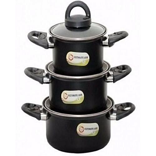 Set Of 3 Non-Stick Cooking Pot