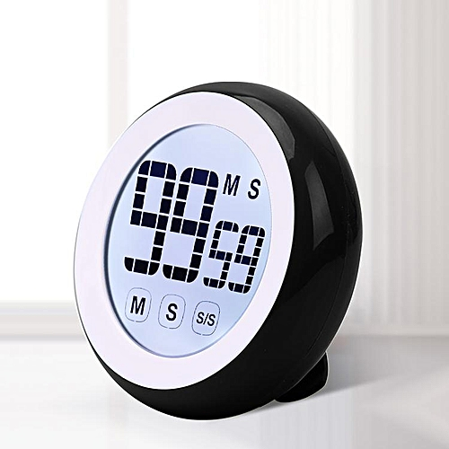 Loskii KC-03 Digital Kitchen Cooking Timer With Temperature And Humidity Cute Touch Screen Soft Light Sports Count Down Up Timer