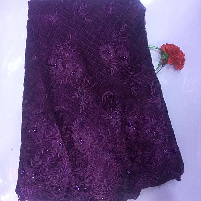Fashion Tulle Lace - Electric Purple- 5 Yards