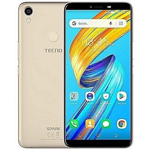 5004da28e4f Tecno Spark 2 (KA70) 6-Inch HD (2GB,32GB ROM) Android 8.1 Oreo (Go  Edition), 13MP + 8MP Dual SIM 3G Fingerprint & Face Unlock Smartphone -  Champagne Gold