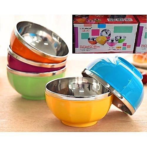 8 Stainless Steel Bowl Colorful Creative Heatproof Plastic Bowl