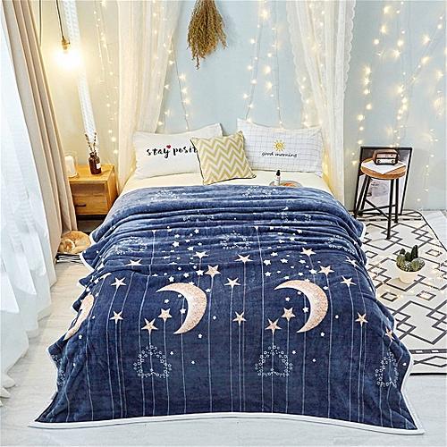120cmx200cm Winter Velvet Blanket Super Soft Blanket Couverture Polaire Carpet Dark Blue