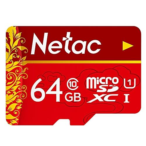 Netac P500 Micro SD Card UHS-1 Class 10 100MB/s 64GB-RED