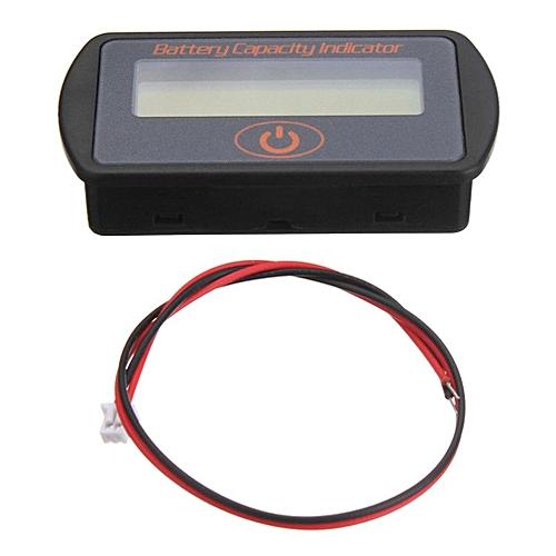 12V/24V Digital Lead-Acid Battery Percentage Voltmeter LCD Display Volt Meter Black