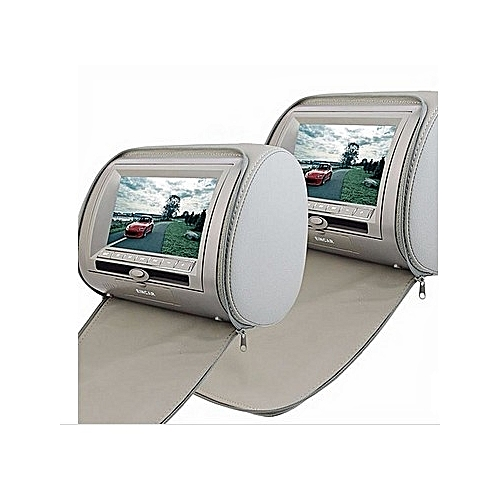"A Pair Of 7"" Car Headrest DVD Player/monitor-Grey"