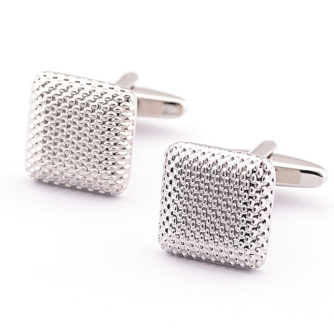 Fashion New Gentleman Men Wedding Party Gift Silver Color Cuff Link