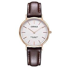 Bontek Electronic CITOLE Watch Leisure Men's Watch Belt Bijou Minimalist Fashion Men&