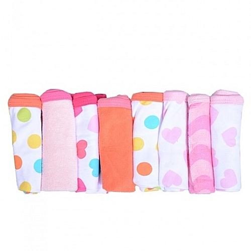 Distinct Trends 8 Hand Towels Pack - Multicolour