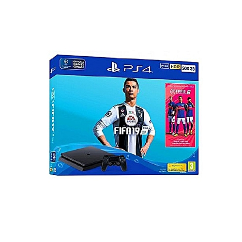PS4 500GB (+ FIFA 19 Bundle Latest Edition)