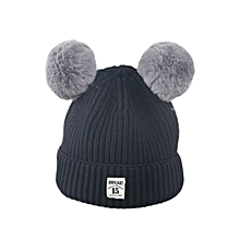 4b5cb953f34 Paidndh Store Fashion Baby Children Cute Ball Cap Keep Warm Winter Hats  Knitted Wool Hemming -