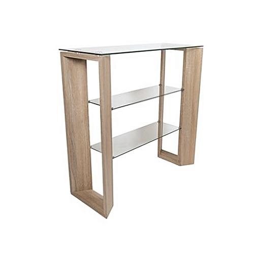 Oak Veneer Console Table/Shelf