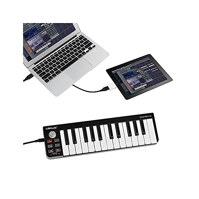 buy generic mini portable 25 key usb midi controller electronic organ usb midi keyboard with. Black Bedroom Furniture Sets. Home Design Ideas