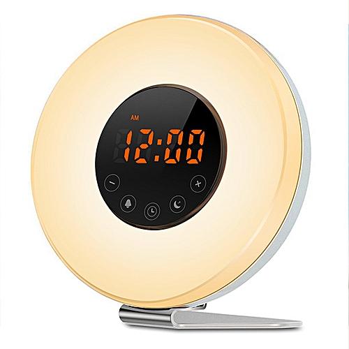 Bedside Night Light Multifunctional LED Display Alarm Clocks Radio Table Clock
